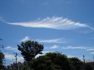 20100718川崎付近で見られた彩雲